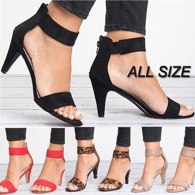 selección asombrosa productos de calidad lujo Sexy High Heel Open Toe zapatos tobillo correa del talón de estilete  sandalias de KJ moda mujeres
