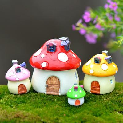 Garden Ornaments Mini Resin Colorful House Figurines Miniatures