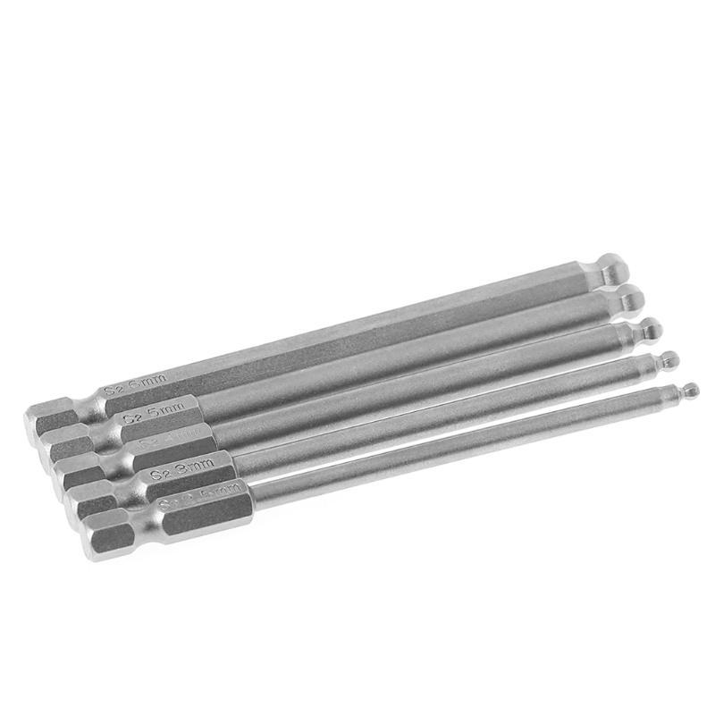 "1//4/"" Hex Shank 2.5mm Tip Magnetic Hexagon Screwdriver Bit 100mm Long 10pcs"