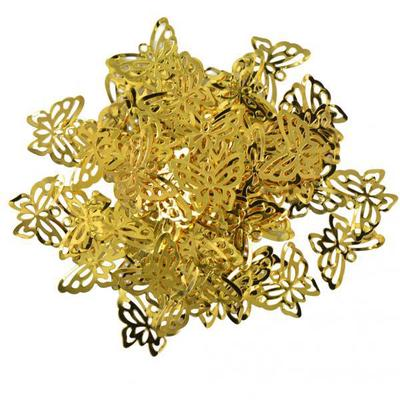 50pcs Heart Pendant Findings Filigree Cut Jewelry DIY Gold Tone Beads Charms