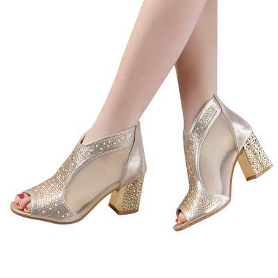 Femei Pantofi Bling 7 Casual Cm High Heels Diamond Vară Piaţa Femei