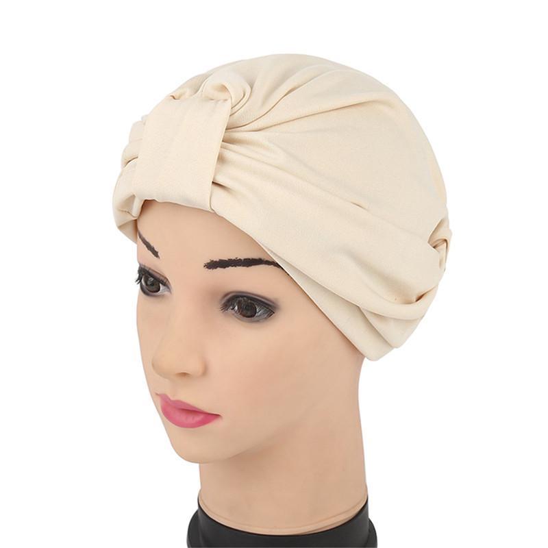 Moda señora tramo plisado leche seda sombrero quimioterapia con ...