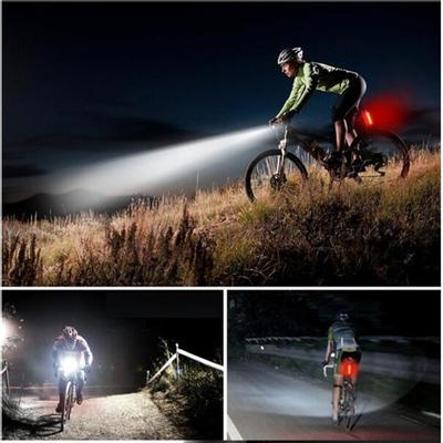 USB Waterproof Bicycle Lights Front Handlebar Cycling Night Warning Headlight W