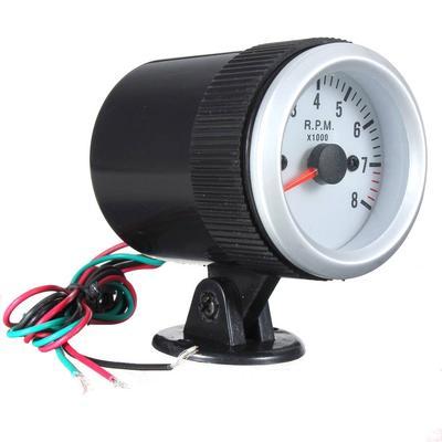 2/'/' 52mm Car Tacho Rev Counter Gauge Tachometer W// Blue LED 0-8000 RPM