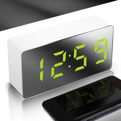 LED Mirror Clock Multifunctional Mirror Electronic Alarm Clock Car Clock Mini Digital Clock Travel Clock -1