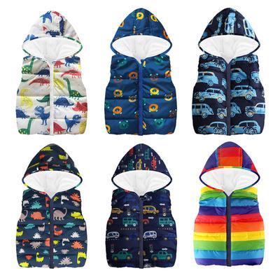 Toddler Kid Baby Boy Camouflage Dinosaur Zipper Coat Top Hooded Cotton Outwear