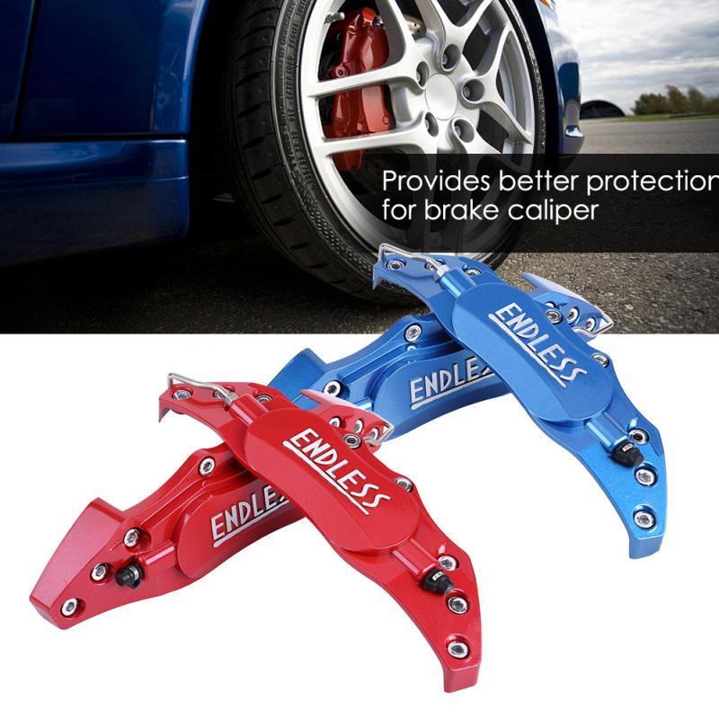 2pcs Car Aluminum Endless Brake Caliper Protector Cover for Wheel Hub 16in-17in Medium Blue