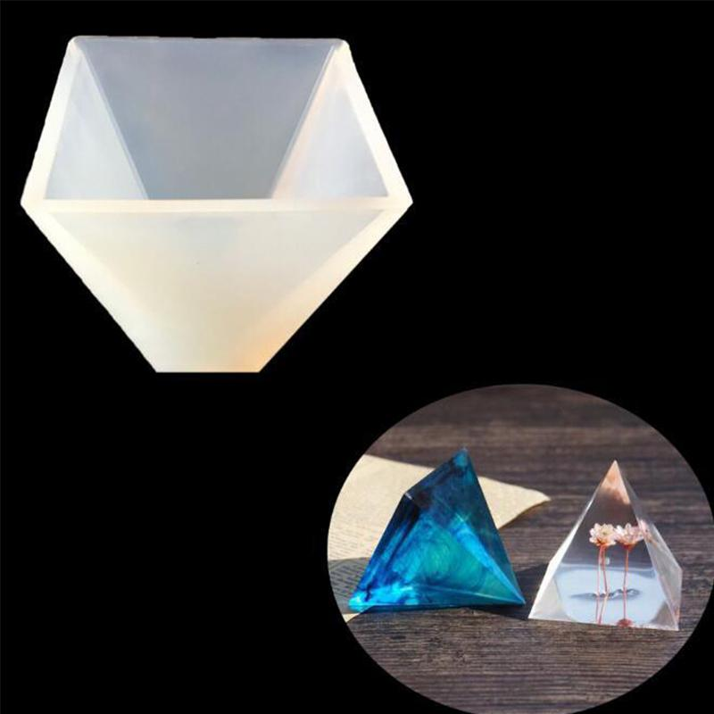 Pyramid Silicone Mold Resin Jewelry Making Mould Epoxy Pendant Craft DIY Tool ~~