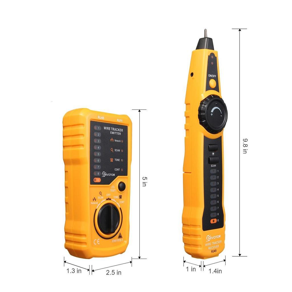 Telephone Wire Tracker Tracer Toner Ethernet Lan Network Cable Open Circuit Tester Testers 1 Of 11