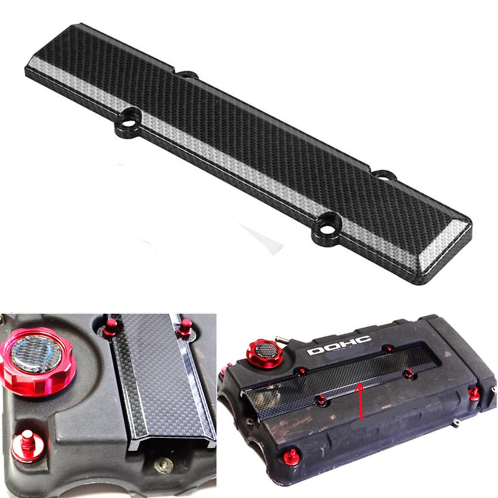 ABS Carbon Fiber Look Valve Cover Spark Plug Insert For Honda B18 B16 B Series