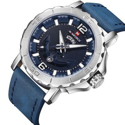 Casual Fashion Quartz Watches for Men Leather Strap Sport Waterproof Wristwatch
