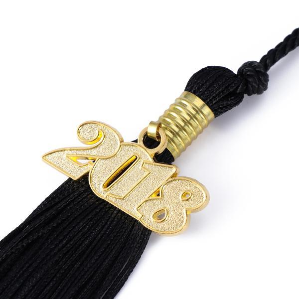 1PC 2019 Number Tassel Solid Color Hanging Pendent for Bachelor Master Cap
