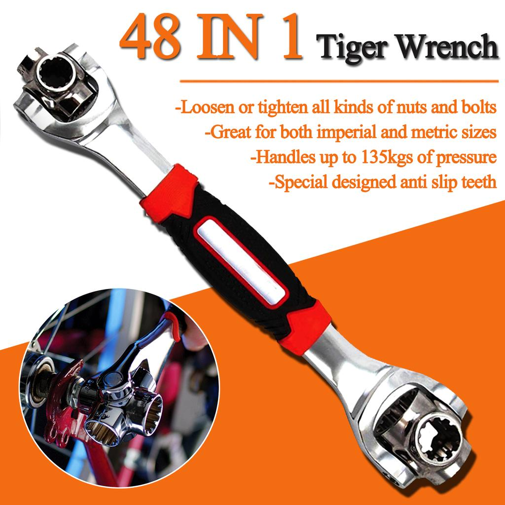 New Wrench In One Socket Works Spline Bolts All Size Stand Socket Tiger 48 in 1