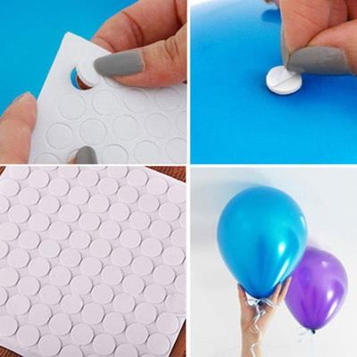 100 Points Balloon Attachment Glue Dot Attach Balloons To Ceiling or Wall Balloon Stickers Birthday