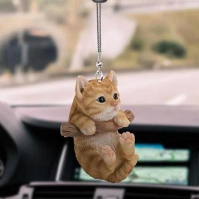Cute Animal Car Pendant Cat And Dog Decorative Pendant Car Rear Interior Ornaments Crafts Cartoon Car Pendant