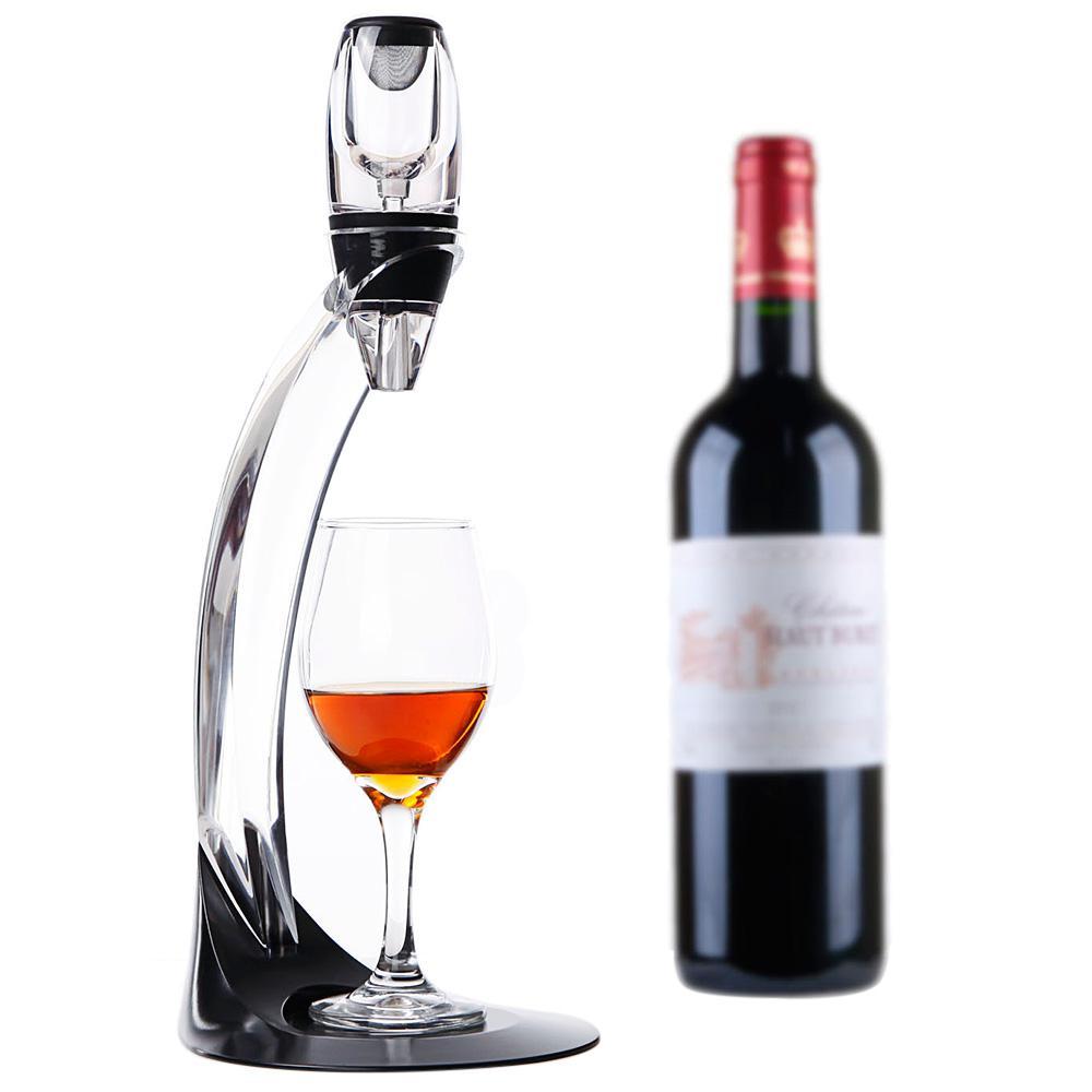 Magische LED Wein Belüfter-Set Deluxe wesentlich Dekanter-Geschenk ...