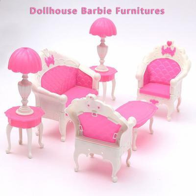 Muebles Vintage elegante mesa sillas juguetes muebles para sistemas ...