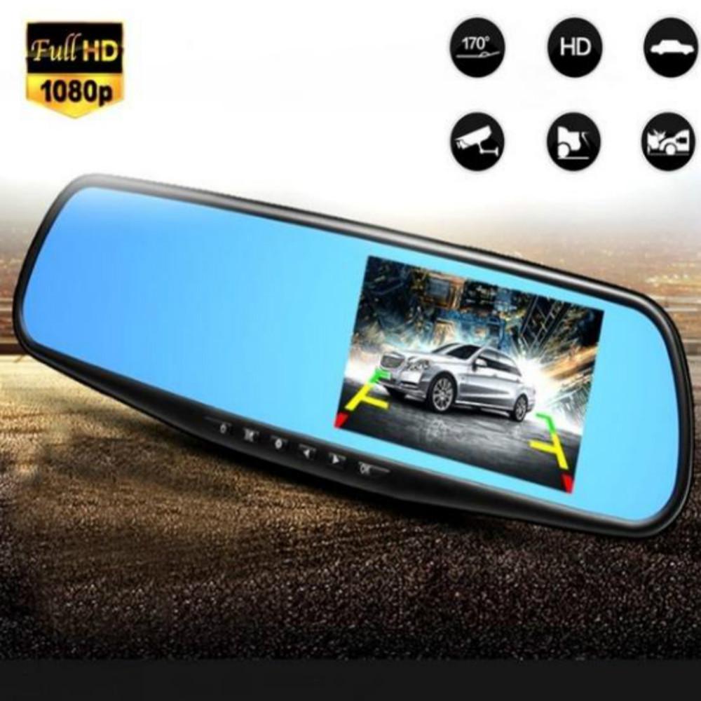 Full HD 1080P Синий экран Заднего зеркала Обнаружение движения Обратный Видео Dvr – купить по низким ценам в интернет-магазине Joom