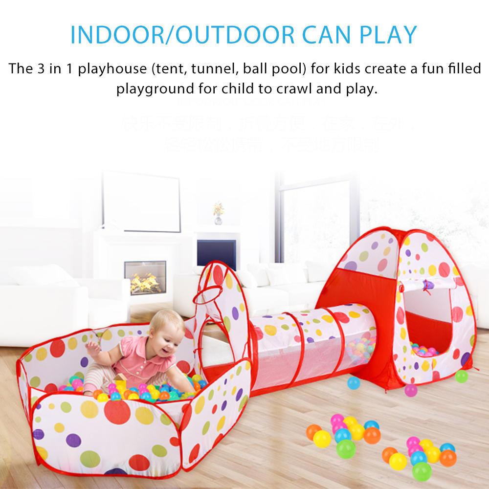 Niños 3 en 1 juguete juego tienda portátil patrón diseño Océano Ball ... 718920f23e492