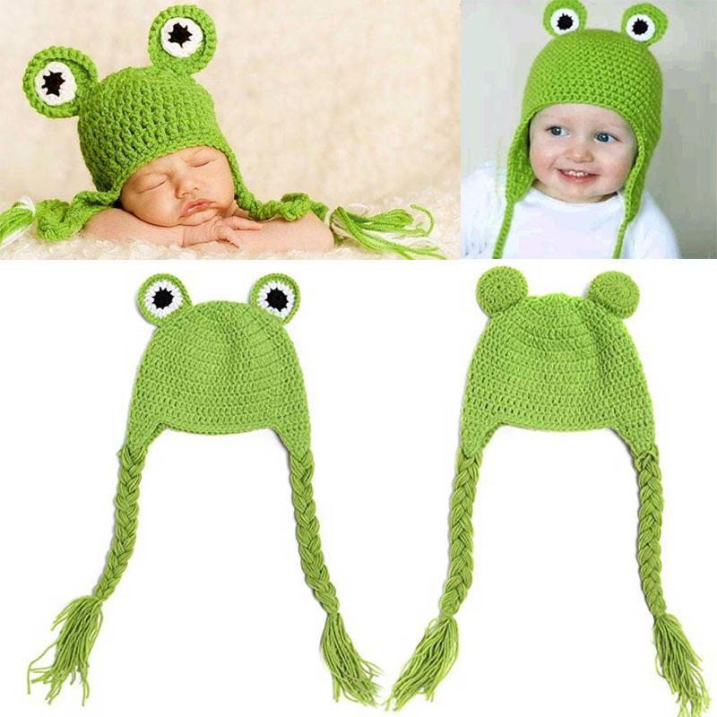 Bebé recién nacido niño niña rana verde rizado trenzas animales ...