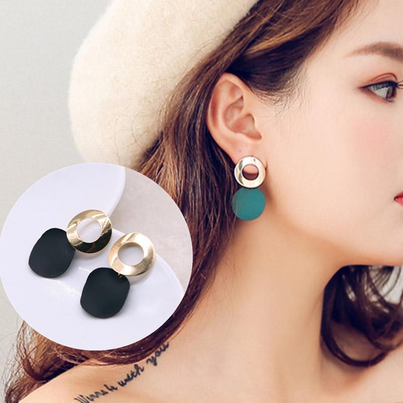 Fashion Trend Red Crystal Metal Earrings Statement Fine Drop Earring High-quality