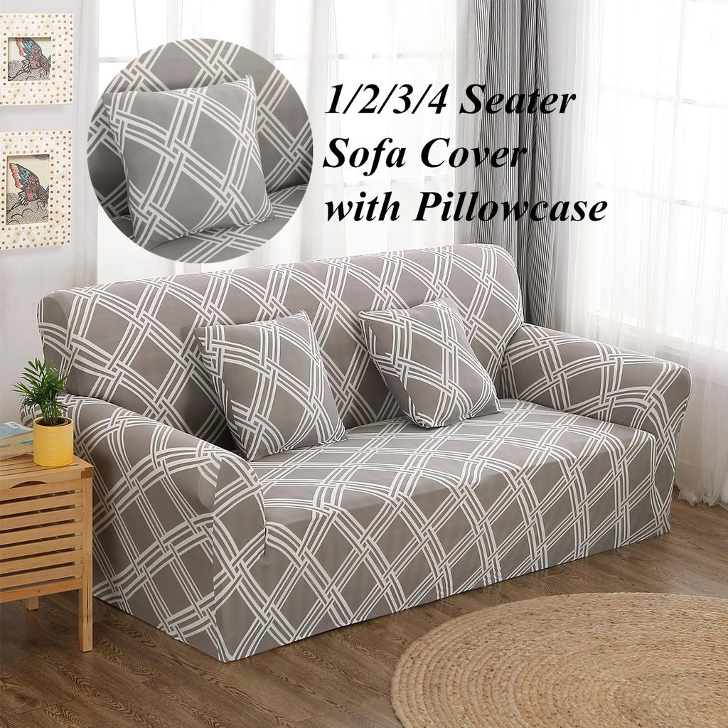 Sofa Cover EASY Stretch Protector Soft Couch Covers 1 Seater 2 Seater 3 Seater