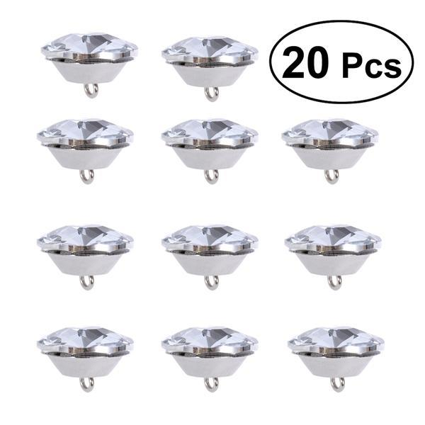 50PCS Pearl Effect Sewing Buttons Round Domed Clothes Dress 9mm Solid White