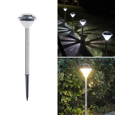 6 X Diamond Solar Lights Stainless Steel Bright Colour Changing Stake Lighting Garden Solar Flame Torches Garden Patio Plastpath Com Br
