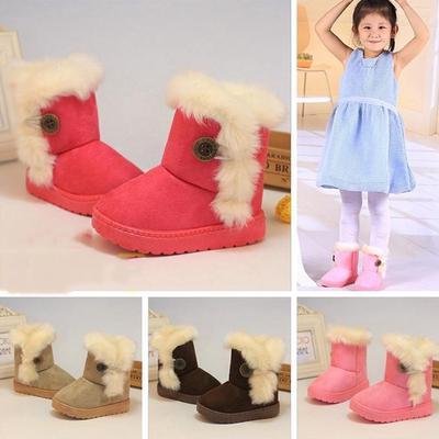 Warmer Chilren's Shoes Fur Winter Girls Boy Kids Thicken Snow Boots