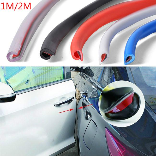 YouCY 4Pcs Car Door Guard Edge Protector Trim Guard Sticker Edge Corner Bumper Buffer Protection Strip Scratch Protector,Black