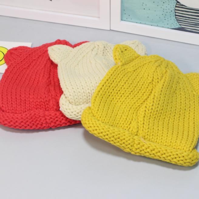 81ada67695 Śliczne czapki z dzianiny dla niemowląt Chłopcy dziewczęta Maluch ...