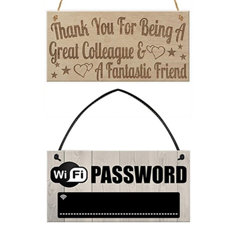 Wifi Password Chalkboard Housewarming Gift Hanging Plaque Home Internet Sign ZP
