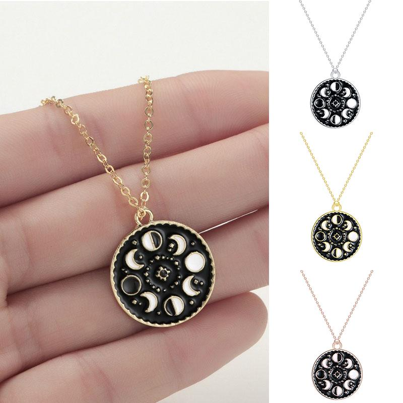 Moon Phase Necklace I Lunar Complete Cycle Pendant