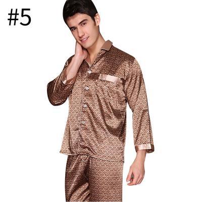 ropa Hombres dormir de larga pijama Homewear pijamas Set conjunto manga 4rW7Yryn