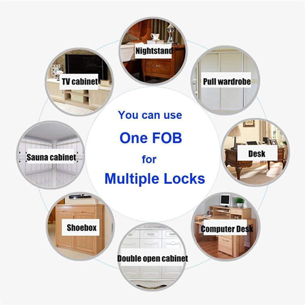 Cabinet Invisible Electronic RFID Lock Hidden Door Drawer Shoe Sensor Lock L5X7