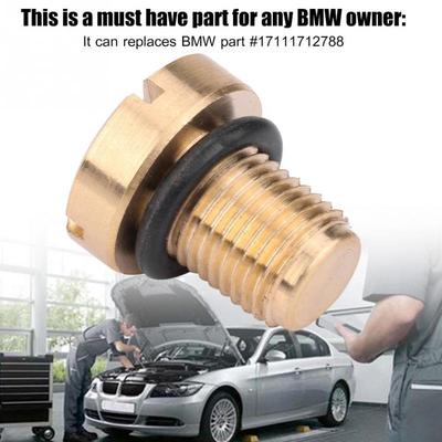 BMW E46 E83 E85 328Ci 325Ci Coolant Drain Plug in Expansion Tank Mounting Plate