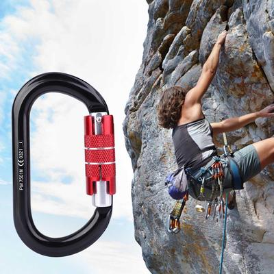 Safety Rope pulley Installation 25KN Rock Climbing Equipment Mountaineering