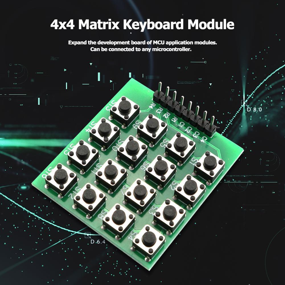 4 x 4 Matrix 16 Tasten Tastatur 8 PIN für Arduino Raspberry Pi //E27