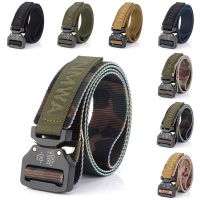 Military Style Webbing Riggers Web Belt Tactical Belt with Quick Release  Metal Buckle Nylon Belts