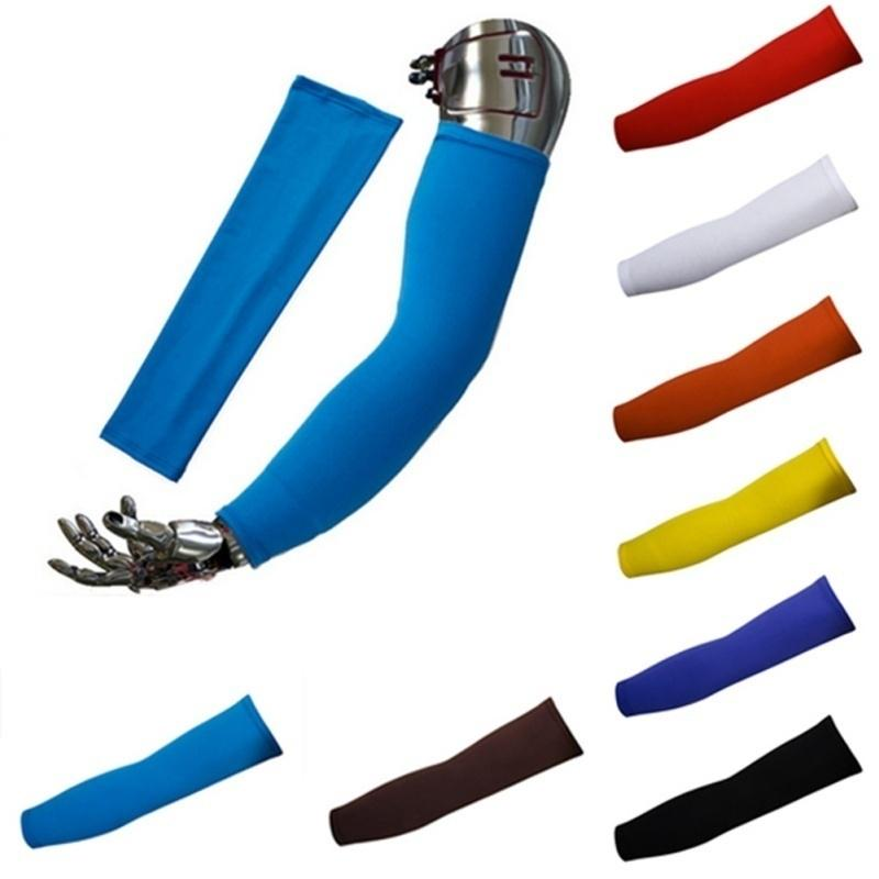 1 Pair Cooling Arm Sleeves Outdoor Sports Basketball UV Sun Protection Arm Cover
