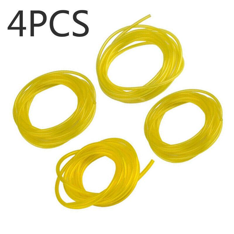 4Pcs Petrol Fuel Line Hose Gas String Tube For Trimmer Chainsaw Blower Tools !