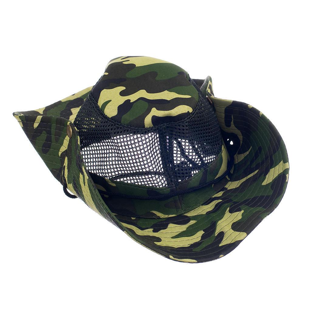 c16773ddba3 Unisex Mesh Bucket Bush Hat Boonie Outdoor Fishing Hiking Military ...