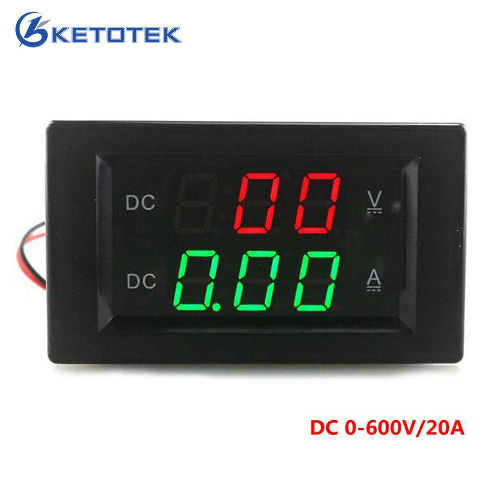 AC80-260V DC6.5~100V 20A 50A 100A Panel Display Volt Amp Power Watt Meter LCD