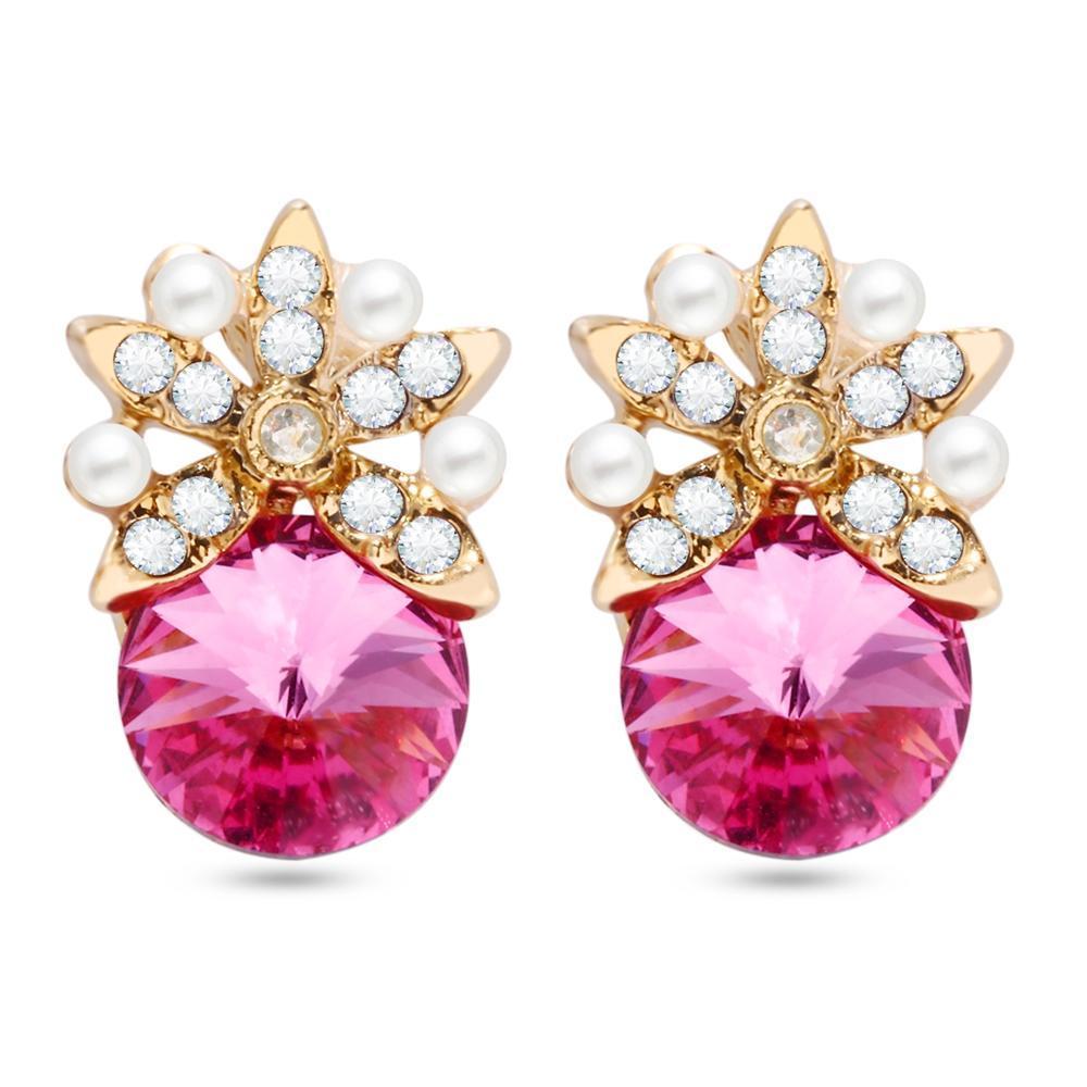 Fruta elegante patrón Pendientes perla rubí Artificial para las ...