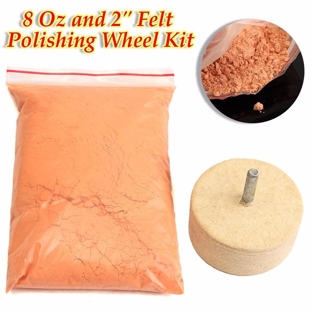 50g Cerium Oxide Glass Polishing Powder For Scratched Windows Mirrors Tabletops Abrasives
