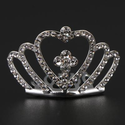Children Flower Mini Rhinestone Tiara Women Girl Rhinestone Crown Bridal Tiara Hair Comb Pin,color