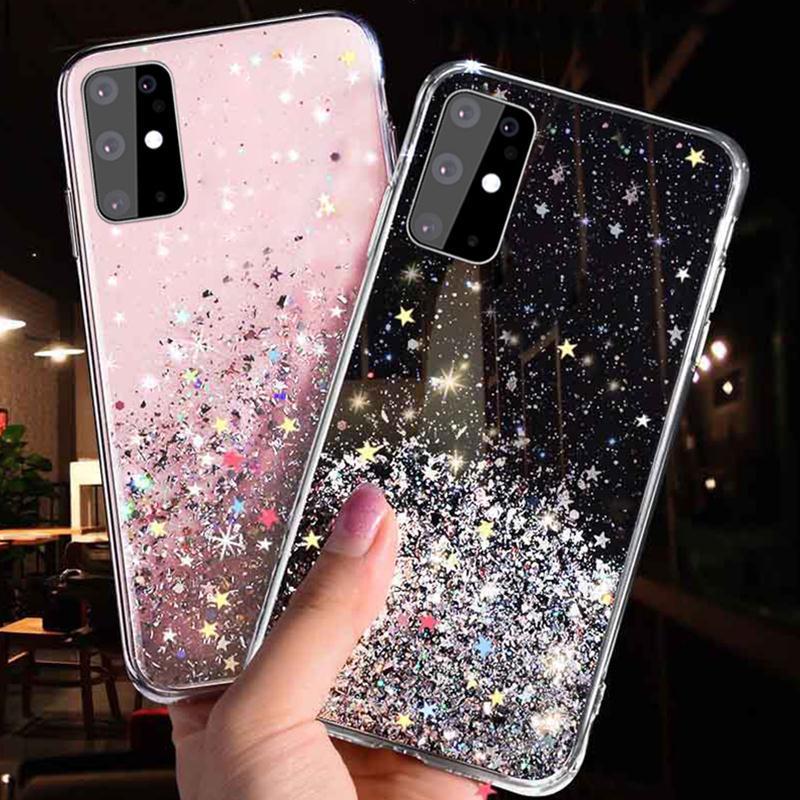 Блеск Дело для чести 10 Lite P Smart 2019 Дело для Samsung A50 A30 A10 блестки Случаях для Xiaomi Redmi 7A Примечание 7 iPhone 11 Bling Силиконовая обложка фото