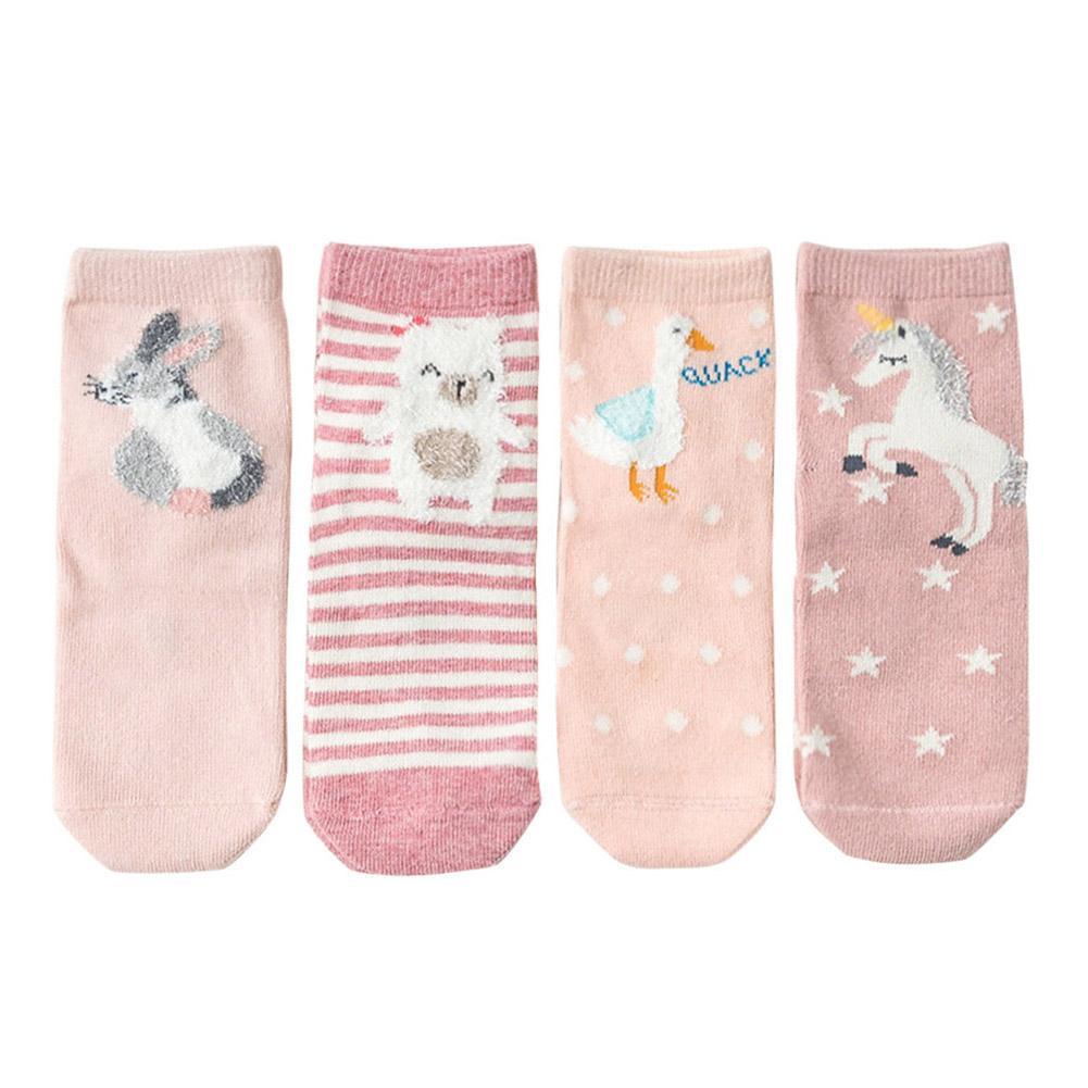 Children  Socks Animal Cartoon Sweat Absorption Cotton Breathable Spring Summer