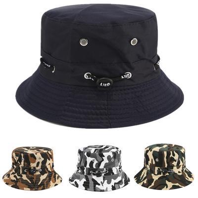 Men Women Unisex Cotton Bucket Hat Double Side Fishing Cap Visor Sun