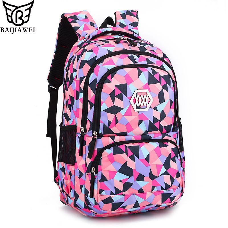 bfe6dc713efe BAIJIAWEI Женский рюкзак для девочек 8-12 лет - купить за 1496py6 в ...